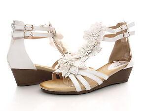 Das Bild wird geladen Damen-Keilabsatz-Sandaletten-Brautschuhe- Roemer-Sandalen-Weiss-Gr- c87070fd88