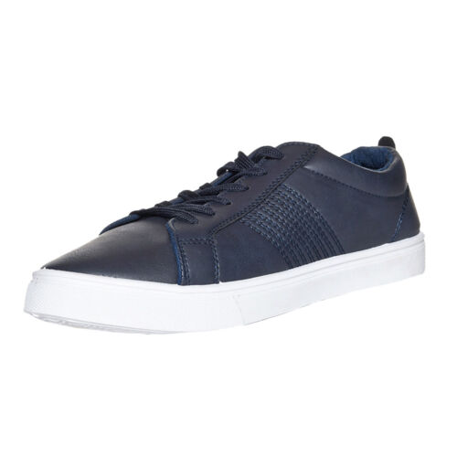Soulstar Low Cut Leather Fashion Trainers  Mens Size
