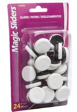 """Magic Sliders® 1-1/8"""" Nail-On Glides (24-Pack) Floor Protecters Chair Sliders"""