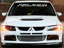 Mitsubishi Windshield  Decal Sticker jdm Lancer lowered import sti evo illest