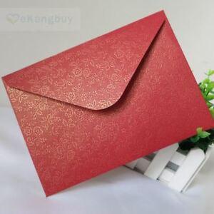 50pcs floral red envelope wedding invitation envelopes ebay