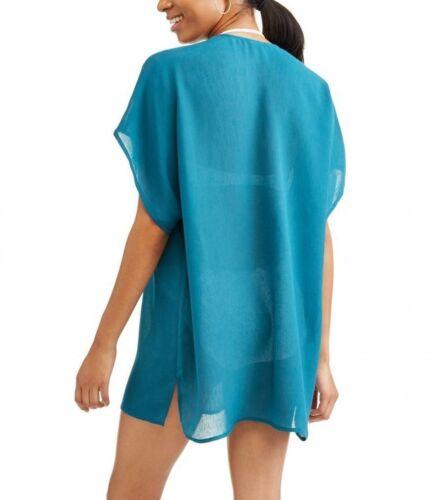 Women/'s Lace Inset Caftan Swim Cover-Up Dress Corsair M L XL 1X 2X 3X