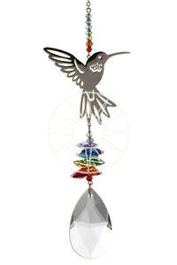 New-Large-Fantasy-Suncatcher-Incorporating-Swarovski-Crystals-Hummingbird