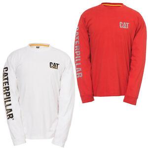 CAT-Caterpillar-Personalizado-Letrero-Camiseta-manga-larga-ropa-de-trabajo