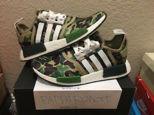 652f843faf6f Image is loading DS-ADIDAS-NMD-R1-BAPE-size-9-GREEN-