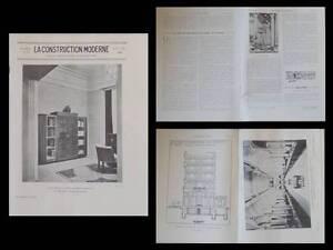 Logique La Construction Moderne N°37 1929 Nice, Banque De Credit, Charles Dalmas Des Performances InéGales