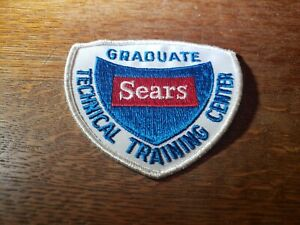 Vtg-Sears-Technical-Training-Center-Graduate-Uniform-Shield-Patch-034-Red-034-Unused