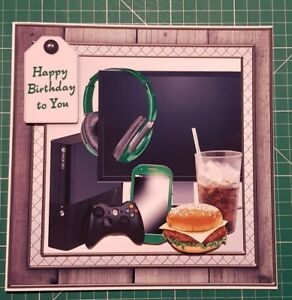 Birthday Cards For Gamers Image Is Loading Handmade 8 034 X 3D Style