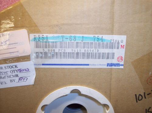 QTY 750K Ohm 1//4W 5/% AXIAL CARBON FILM RESISTORS R25X-T68J754 ROHM 100