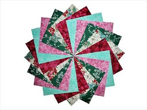50-4-034-Quilting-Fabric-Squares-BEAUTIFUL-ASIAN-FLORAL-BUY-IT-NOW