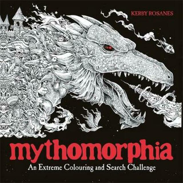 Mythomorphia: An Extreme Colouring and Search Challenge by Kerby Rosanes (Englis