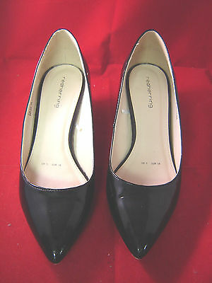 Red Herring para mujer Talla 5 Negro Patente Court Shoe