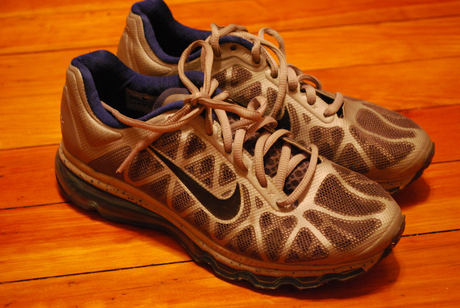 Nike Air Max 2011 + Drenched Blue / Grey Running Sneakers (7)