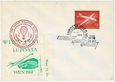 Briefmarken Österreich Sonderbrief Luftposta Wien Mit Vignetten Sonderstempel Balloon Club Extrem Effizient In Der WäRmeerhaltung