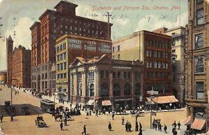 Omaha-Nebraska-1908-Postcard-Sixteenth-amp-Farnam-Streets