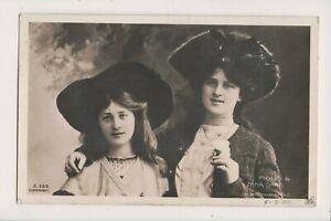 Vintage-Postcard-Sisters-Zena-amp-Phyllis-Dare-English-actresses-amp-Singers