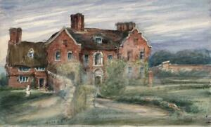 CAROLINE-ANN-BRERETON-Watercolour-Painting-OLD-HALL-HORNSEA-YORKSHIRE-c1850