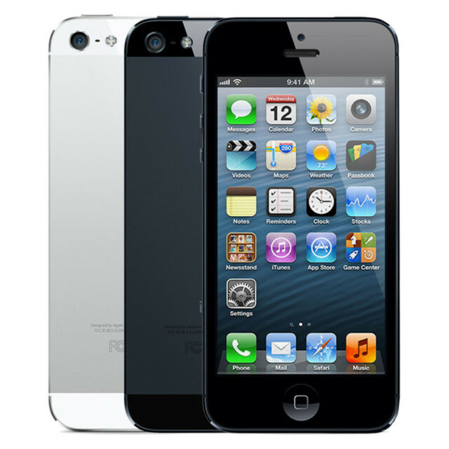 Apple iPhone 5 16GB 32GB 64GB Smartphone Unlocked and Network Locked
