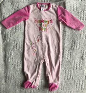 Baby Girls Tu Pink Babygrow/ Sleepsuit Age 9-12 Months Girls' Clothing (newborn-5t)