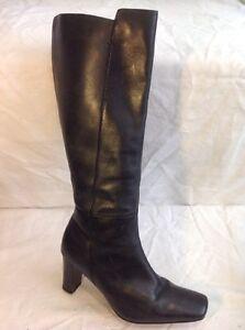 High Grey George Boots 40 Dark Knee Size Leather wwtaR
