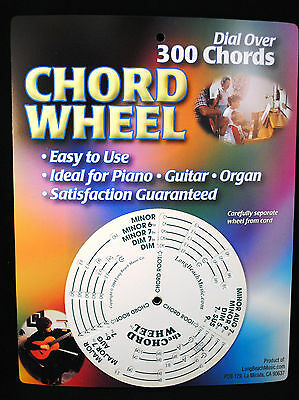 Music Chord Wheel Note Finder Chord Chart | eBay