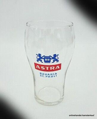 Astra Bavaria Brauerei Bier Glas 0,25l Hamburg St. Pauli sehr alt Top erhalten