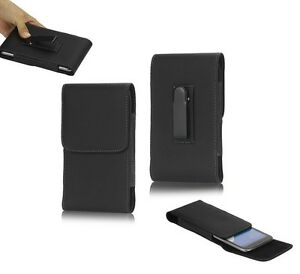 Leather-Flip-Belt-Clip-Metal-Case-Holster-Vertical-para-gt-SAMSUNG-Galaxy-NOTE-4