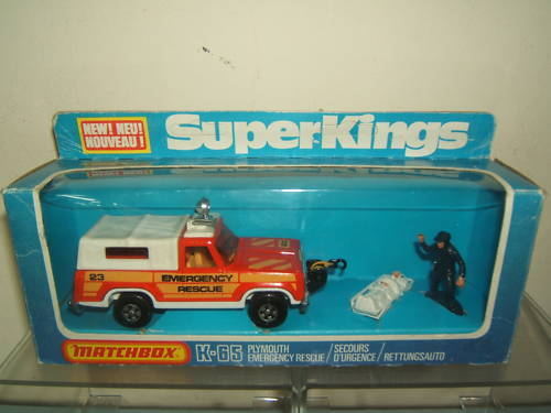 Matchbox Super King Modelo K65 MIB de Rescate de Emergencia de Plymouth