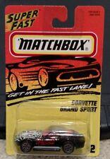 Matchbox MB2 1960s Corvette Grand Sport Stingray The Widow 1996 Super Fast