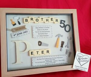 Image Is Loading BROTHER BIRTHDAY GIFT PERSONALISED PICTURE FRAME SCRABBLE LETTERS