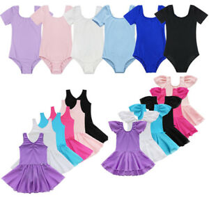 Girls-Kids-Toddler-Gymnastics-Ballet-Dress-Leotard-Tutu-Skirt-Dance-wear-Costume