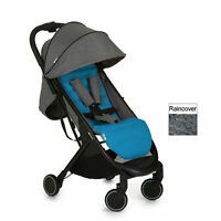 Hauck Melange Grey / Azure Swift Pushchair Stroller Baby Buggy With Raincover