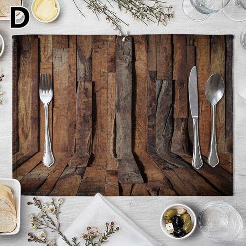 Non-slip Table Placemat Wood Grain Coaster Insulation Pad Mat Home Decor