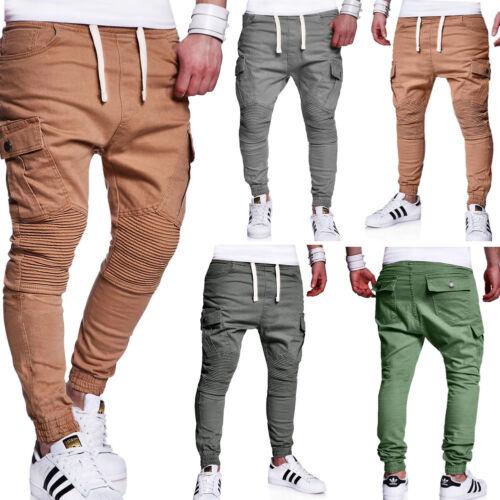 jeans de Pantalon kaki beige gris Pantalon chino Behype Nouveau jogging Jogger Biker Homme 5AqfX