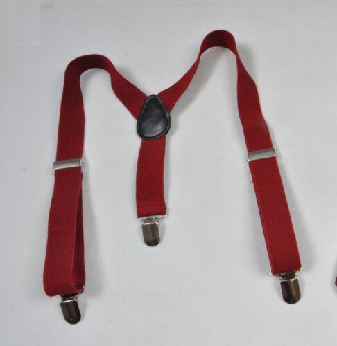 Harry Potter Costume Style Dark Red Necktie Neck Tie Suspenders Braces Boys Men