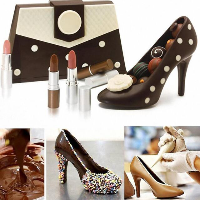 FOUR-C 12pc Fondant Cake Mold 3D High-heeled Shoes Kit Set Cake Decorating  Supplies Chocolate Fondant Candy Mold Fondant & Gum Paste Molds Kitchen &  Dining