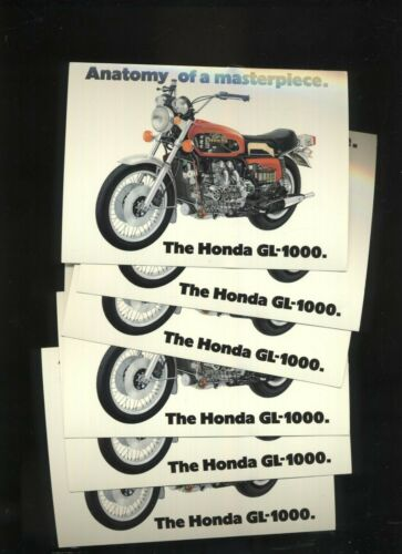 Honda USA GL1000 Gold-Wing (75-77) Unused Postcard NOS GL 1000 K0-K2 GL1 BT43