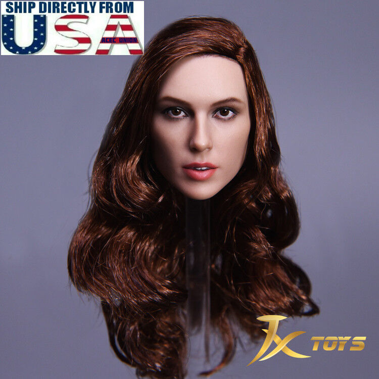 1 6 Female Head Sculpt A Gal Gadot Wonder Woman For Hot Toys Phicen Figure USA