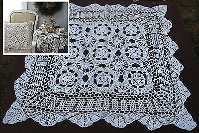 """lot of 10  Hand Crochet  Table Runners 30/"""" x12/"""" Shabby Victorian VTG Wedding Wht"""