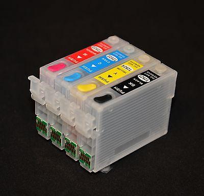 Refillable Ink Cartridge for Epson WF-3620 WF-3640 WF-7610 WF-7620 WF-7110 CISS