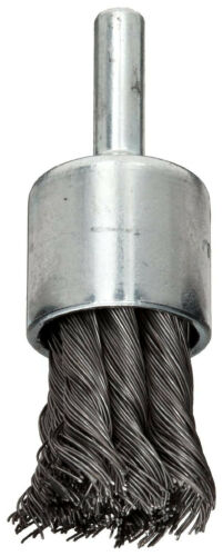 """new WEILER 10025 3//4/"""" x 0.014/"""" x 1//4/"""" Shank Wire End Brush Partial Twist Knotted"""