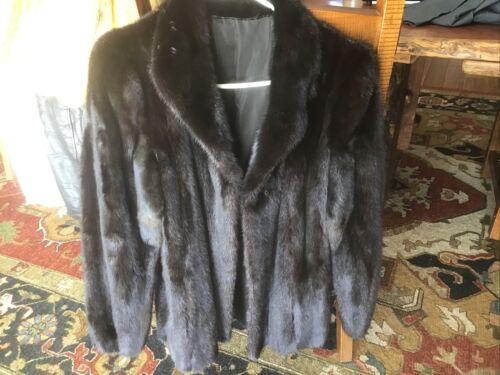 Winter Black Mink Fur Short Coat / Jacket Unbrande