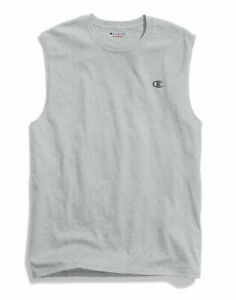Champion-Mens-Jersey-Atheltic-Fit-Muscle-Tee-Classic-Cotton-T-Shirt-Sleeveless