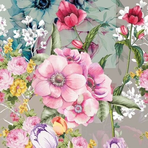 4 x Single Paper Table Napkin//Decoupage//Flowers//Floral//Pinks//Mixture of Flowers