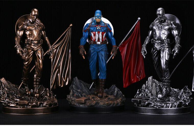 4 fatto a uomoo Avengers Capitan America 16 modellolololo Statua cifra Giocattolo in resina in magazzino