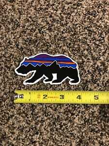 """4bb27167a Details about Patagonia Bear Sticker Decal Vinyl!!! Fitz Roy Approx 4""""  Brand New Authentic!!!"""