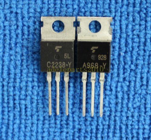 5pairs 2SA968-Y//2SC2238-Y 2SA968//2SC2238 A968-Y//C2238-Y TOSHIBA AMP Transistors