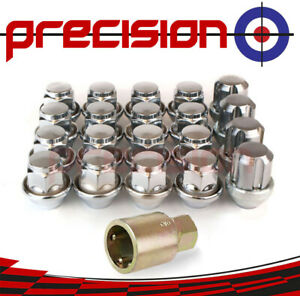 16-Chrome-Wheel-Nuts-amp-Locks-for-Ford-Focus-RS-2004-2017-with-Ford-Alloys