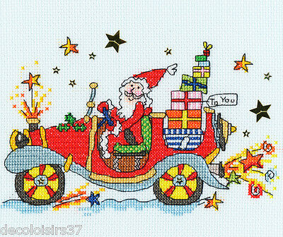 Bothy Threads Sew Dinky Xsd5 Xmas Car Kit Embroidery Counted Cross Stitch Ebay