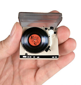 Miniature-TURNTABLE-Doll-House-Barbie-Working-Worlds-Smallest-Record-Player-Toy